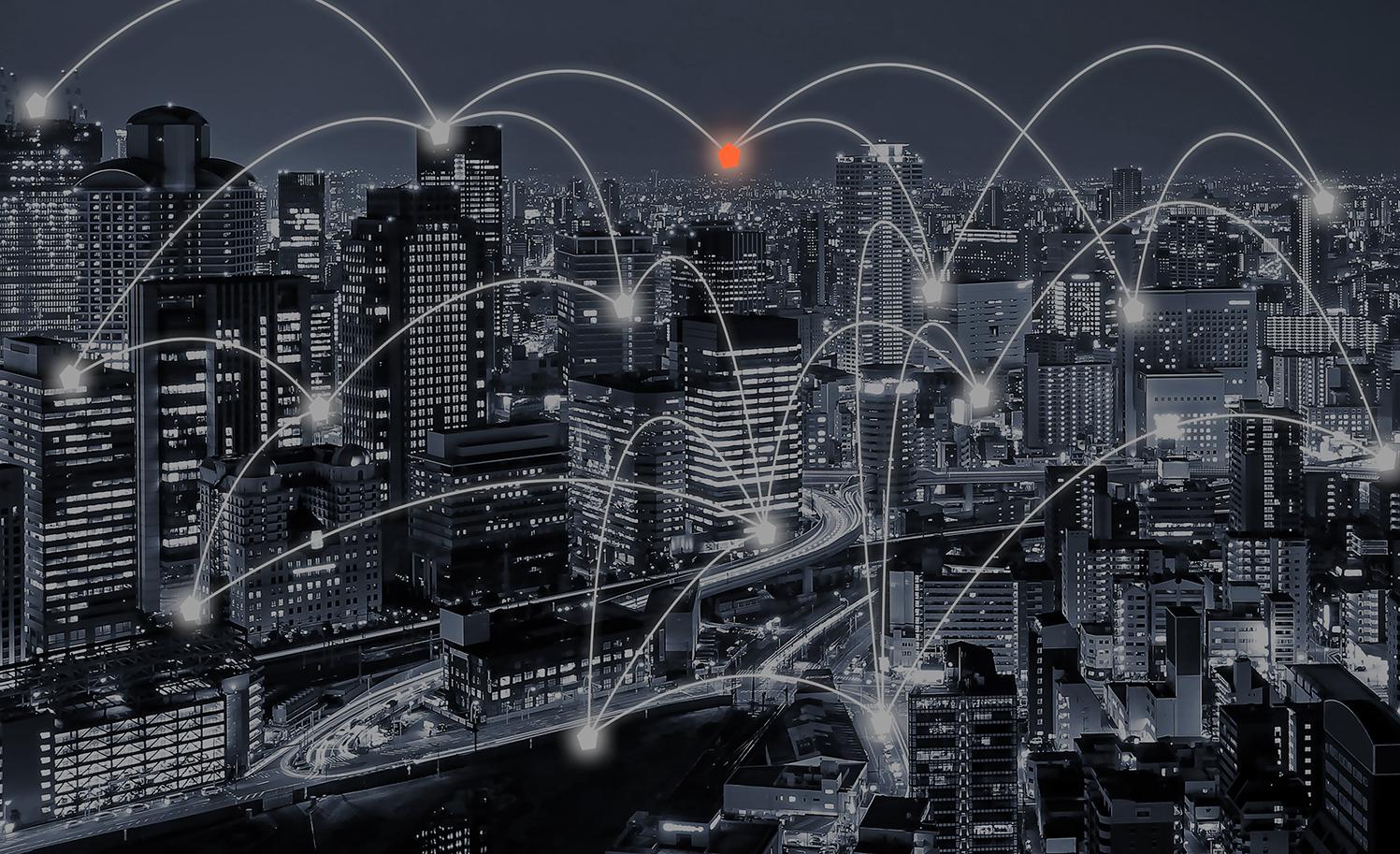 network around city